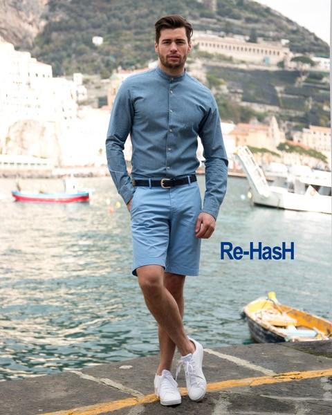 Short bleu ciel - Mannequin Re-Hash - Christian Ambrosio