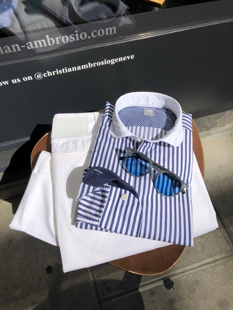 Chemises rayées - Christian Ambrosio