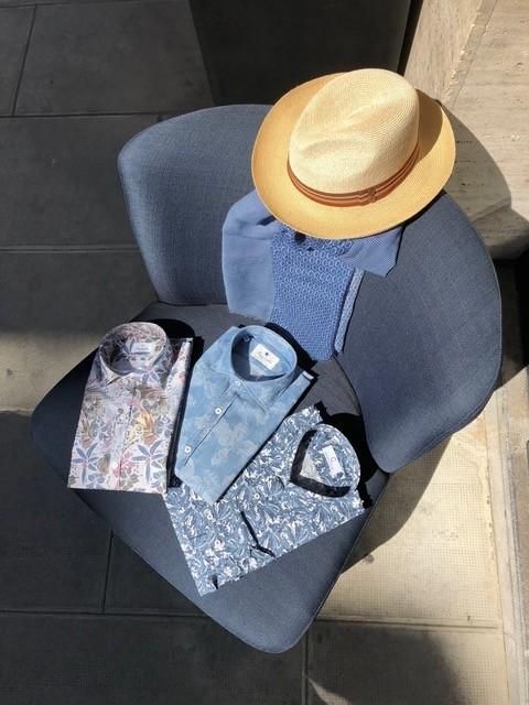 Chemises bleu trio - Christian Ambrosio