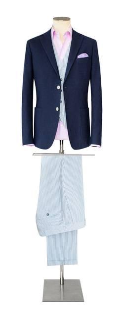 Costume-sur-mesure bleu foncé et bleu clair - Christian Ambrosio