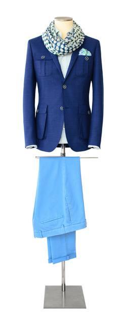 Costume-sur-mesure bleu clair et foncé - Christian Ambrosio