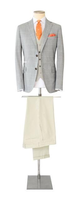 Costume-sur-mesure gris et beige - Christian Ambrosio