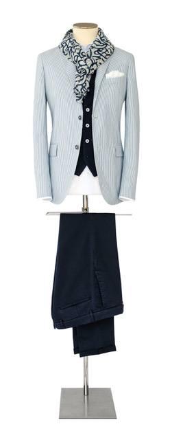 Costume-sur-mesure gris bleuté - Christian Ambrosio