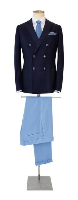 Costume-sur-mesure de couleur bleu - Christian Ambrosio